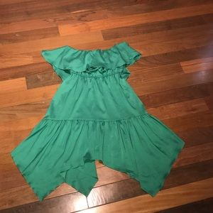 XOXO Size XS Green Off The Shoulder Dress